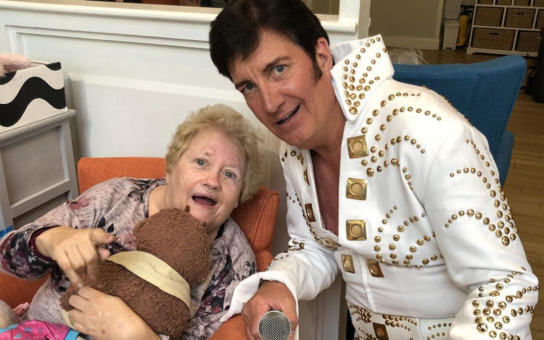 Elvis arrives at Bromley Park Care Home