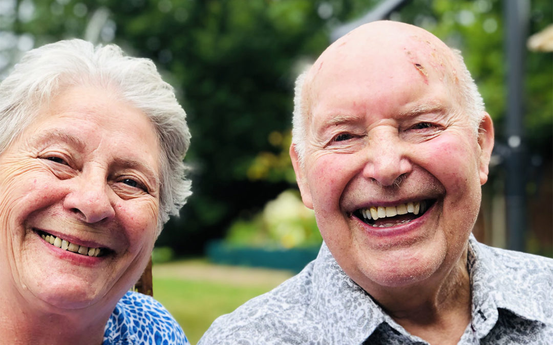 Bromley Park Care Home residents enjoy a summer party