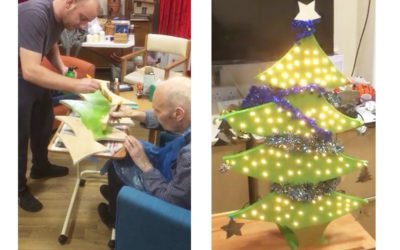 Men in sheds Christmas tree project at Bromley Park Care Home