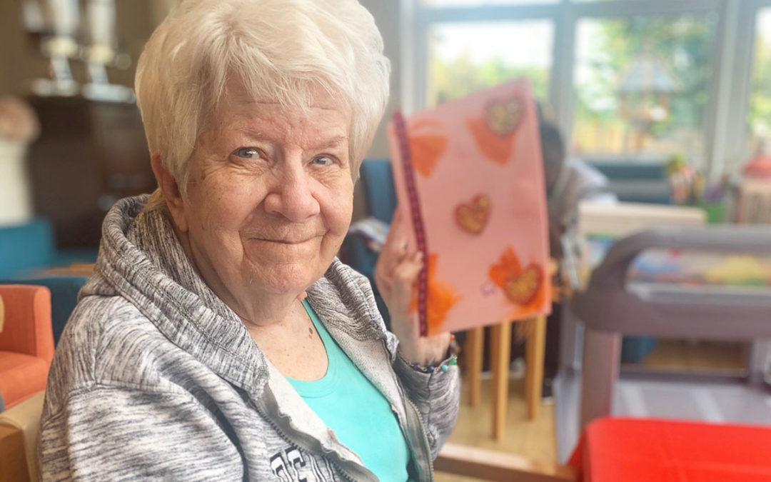 Bromley Park Care Home ladies enjoy Valentines arts and crafts