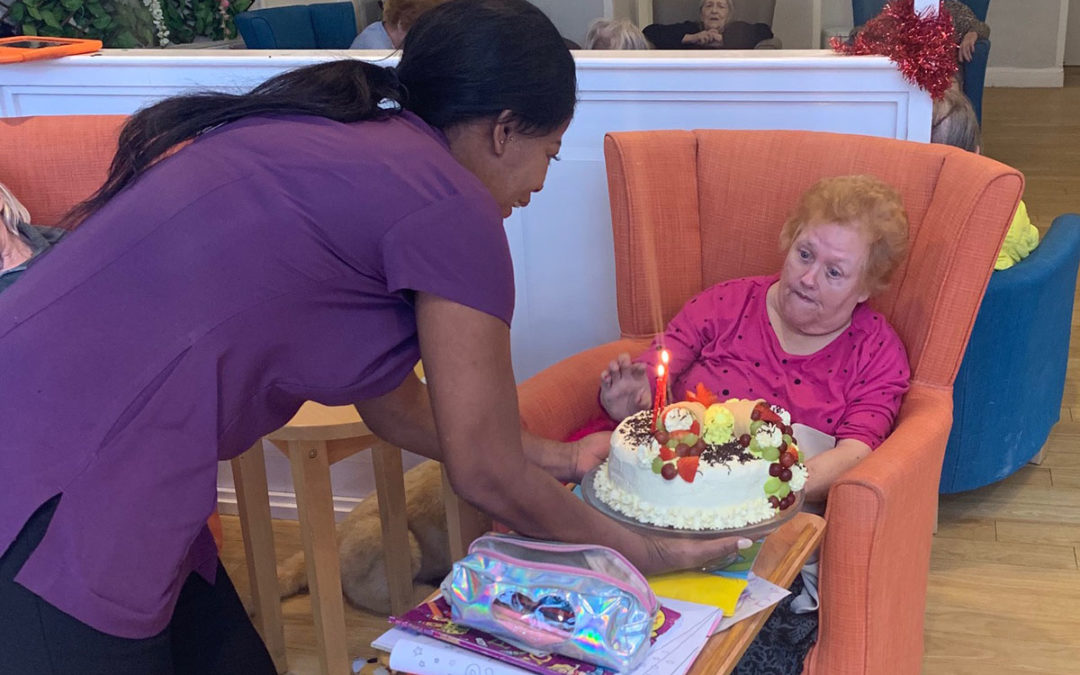 Happy birthday to Jean at Bromley Park Care Home