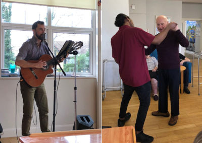 Singer Santino at Bromley Park Care Home 3