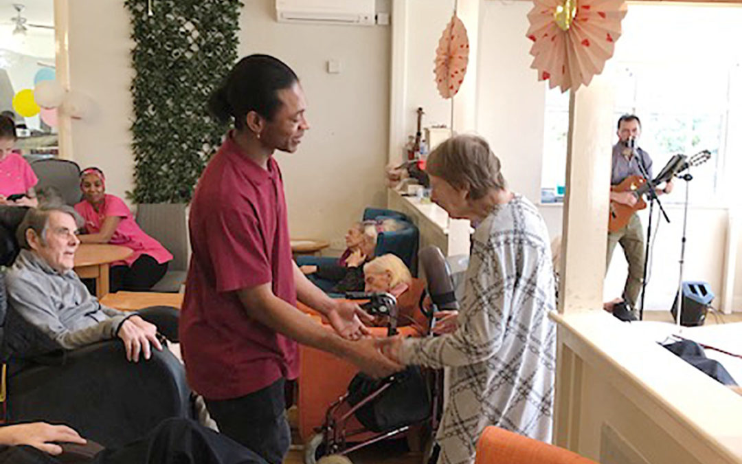 Singer Santino at Bromley Park Care Home