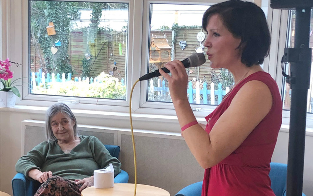An afternoon of music with Sarah Flotel at Bromley Park Care Home