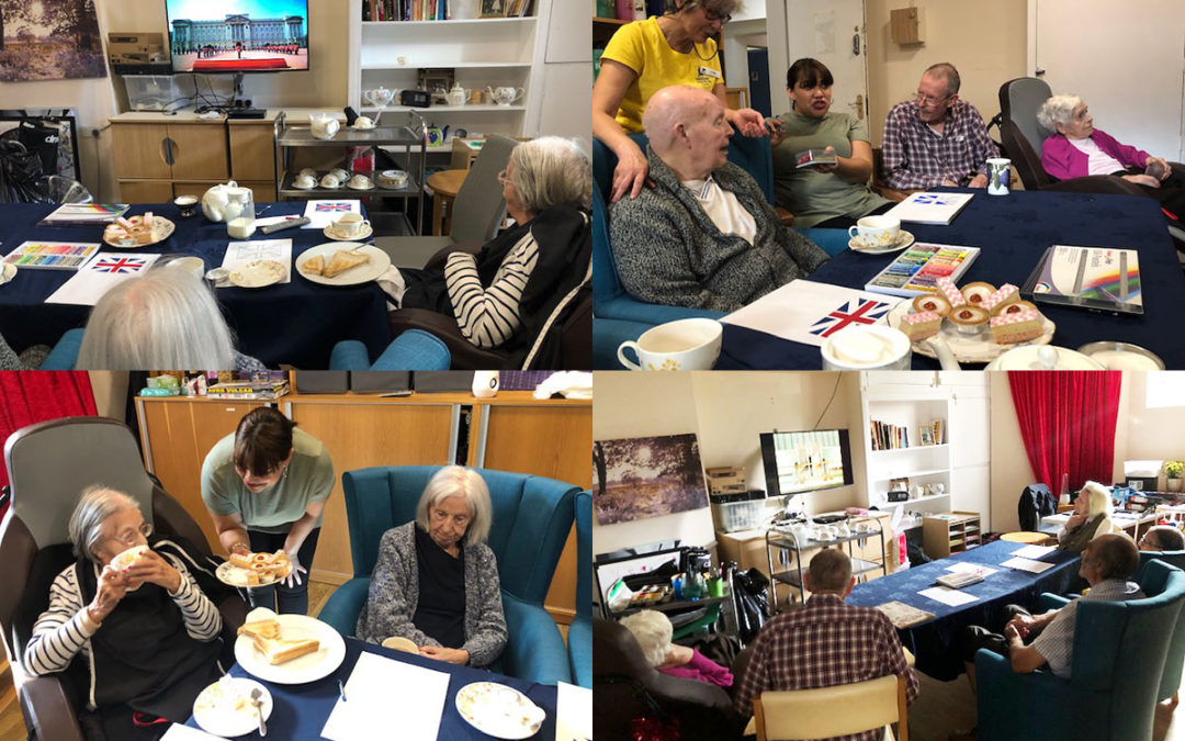 Royal themed armchair experience at Bromley Park Care Home