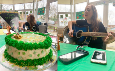 St Patricks Day treats and music at Bromley Park Care Home