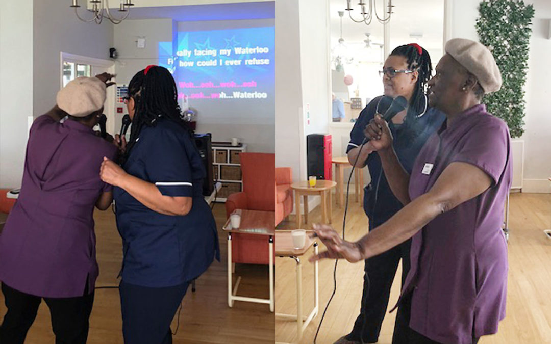 Karaoke time at Bromley Park Care Home
