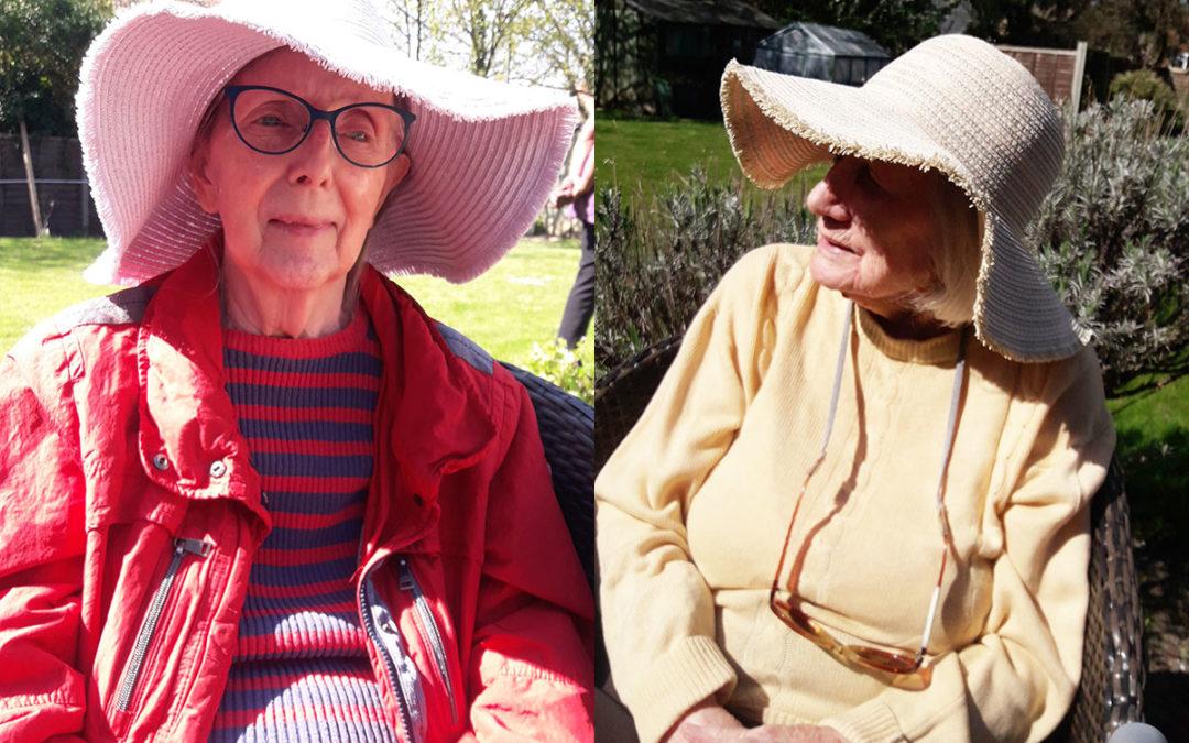 Appreciating the garden at Bromley Park Care Home