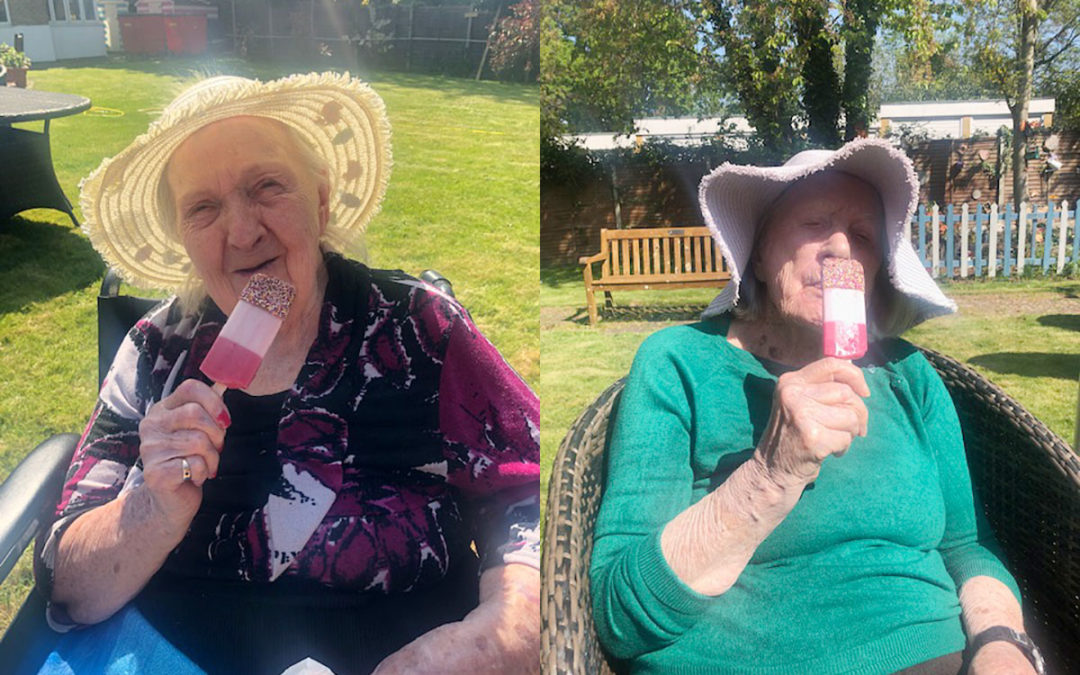 Ice cream delights at Bromley Park Care Home