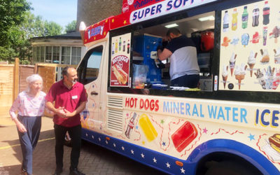 Ice cream van pays Bromley Park Care Home a visit