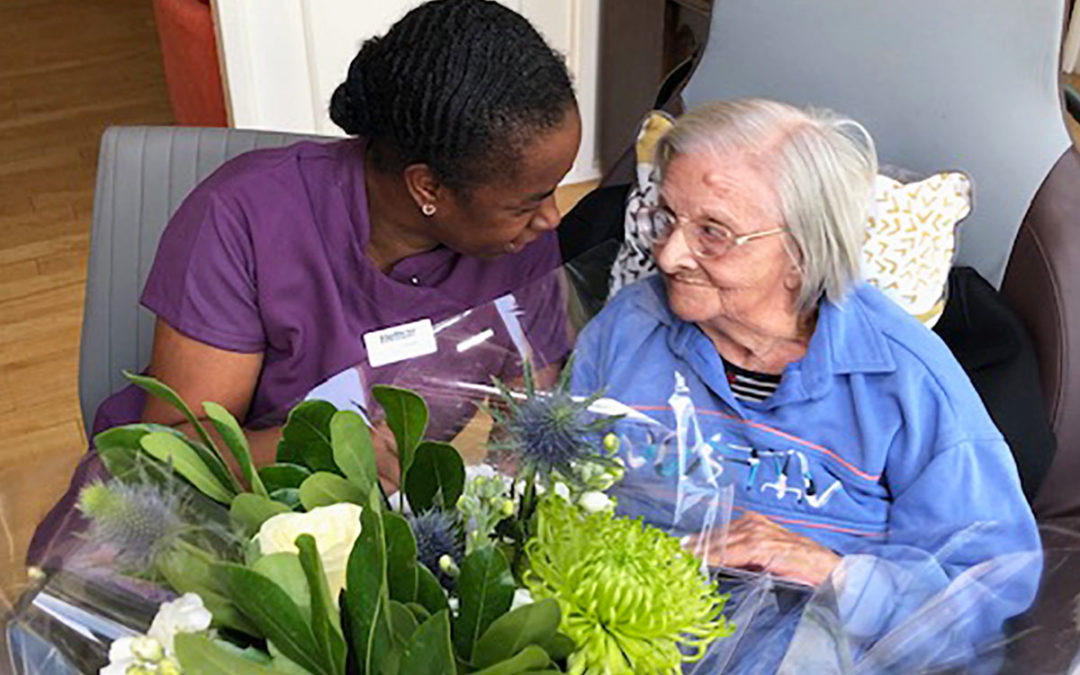 Bromley Park Care Home wishes Ina a very happy birthday