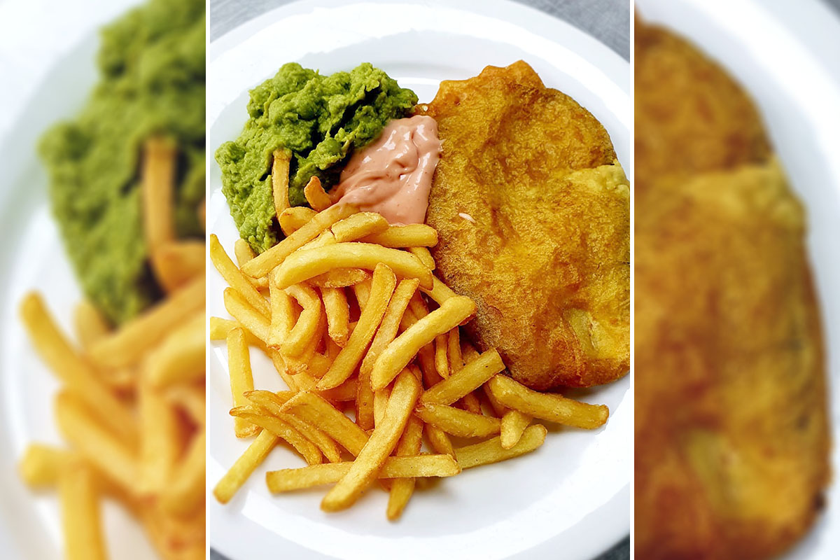 Celebrating fish and chips at Bromley Park Care Home