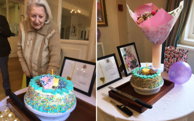Resident birthday celebrations at Bromley Park Care Home