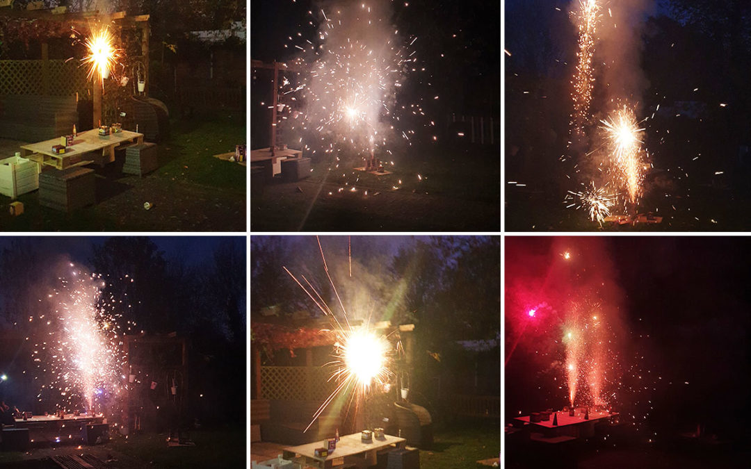 Bromley Park Care Home residents enjoy a firework extravaganza