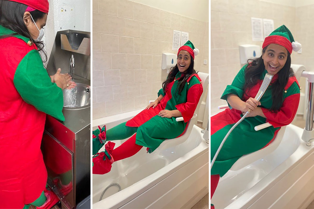 Squeaky clean Elf spotted at Bromley Park Care Home