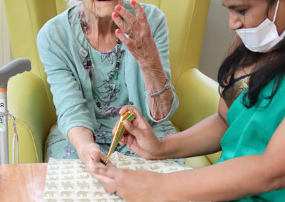 Henna tattoos at Bromley Park Care Home