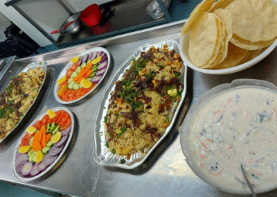 Indian cuisine prepared at Bromley Park Care Home