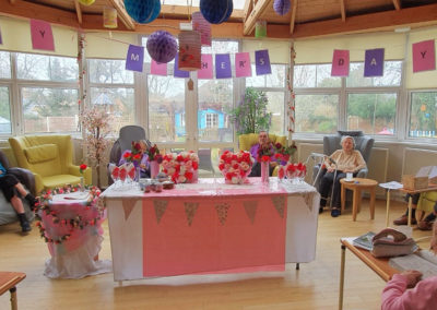 Mother's Day decorations at Bromley Park Care Home