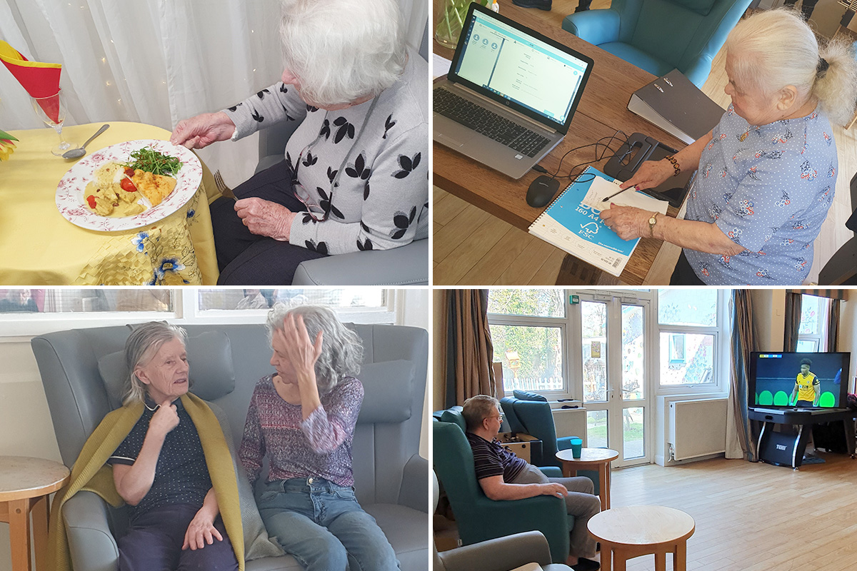 Creative and relaxing pastimes at Bromley Park Care Home