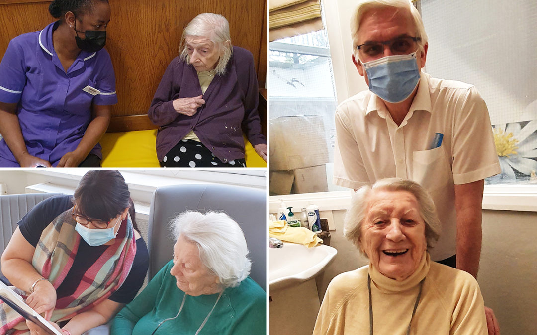 Relaxation and connection at Bromley Park Care Home