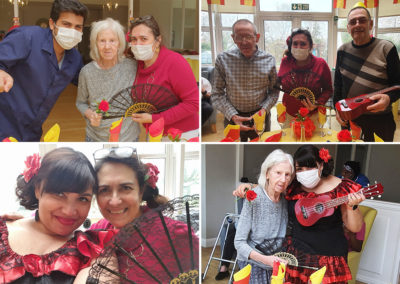 Celebrating Spanish culture at Bromley Park Care Home