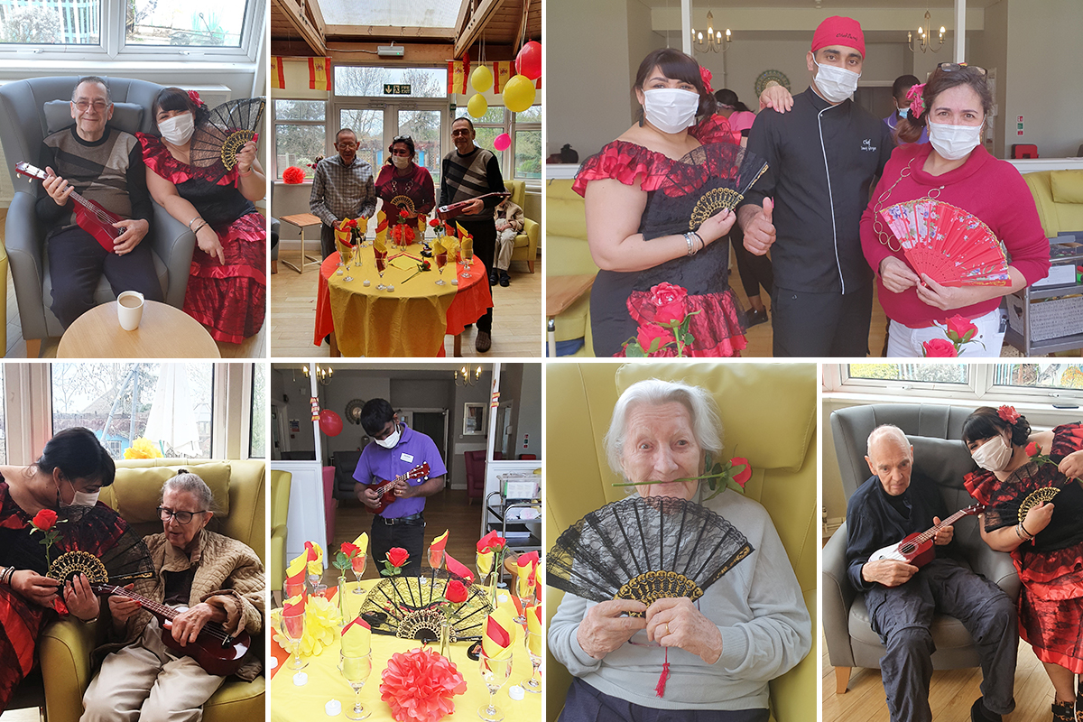 Bromley Park Care Home residents arrive in Spain on their virtual Cruise