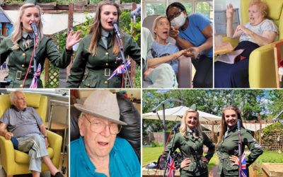 The D-Day Dollies entertaining residents at Bromley Park Care Home