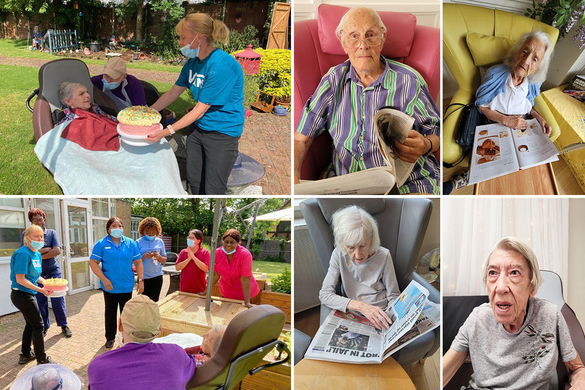 Birthday celebrations and aromatherapy at Bromley Park Care Home