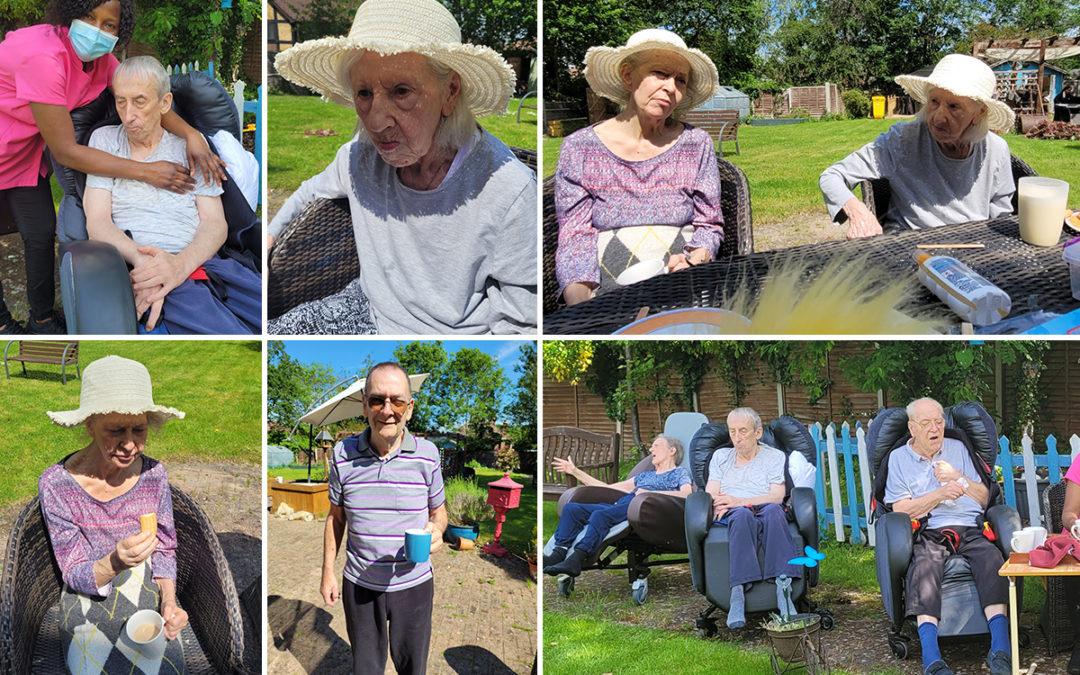 Enjoying our garden at Bromley Park Care Home