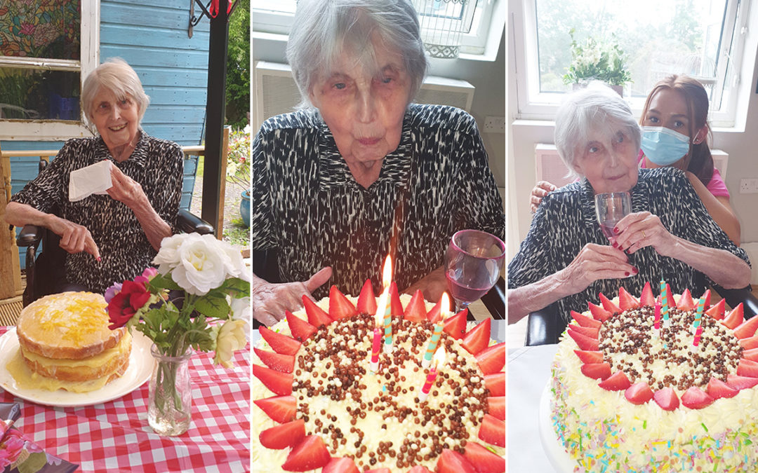 Happy birthday to Joyce at Bromley Park Care Home