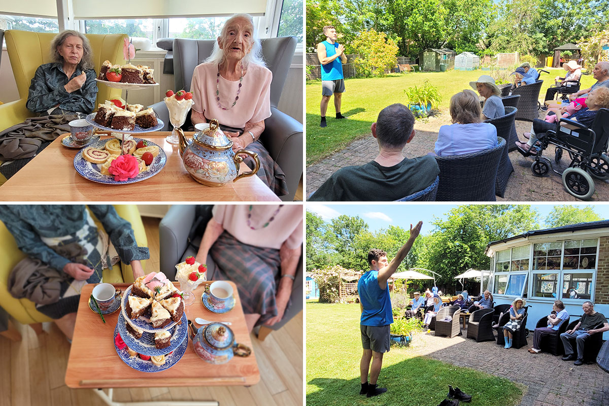Queens birthday tea and ballet fun at Bromley Park Care Home