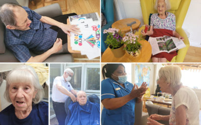 Olympics preparations, potting flowers, hairdressing and a dance at Bromley Park Care Home