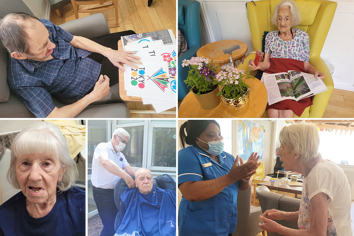 Olympic excitement and hairdressing in the garden at Bromley Park Care Home