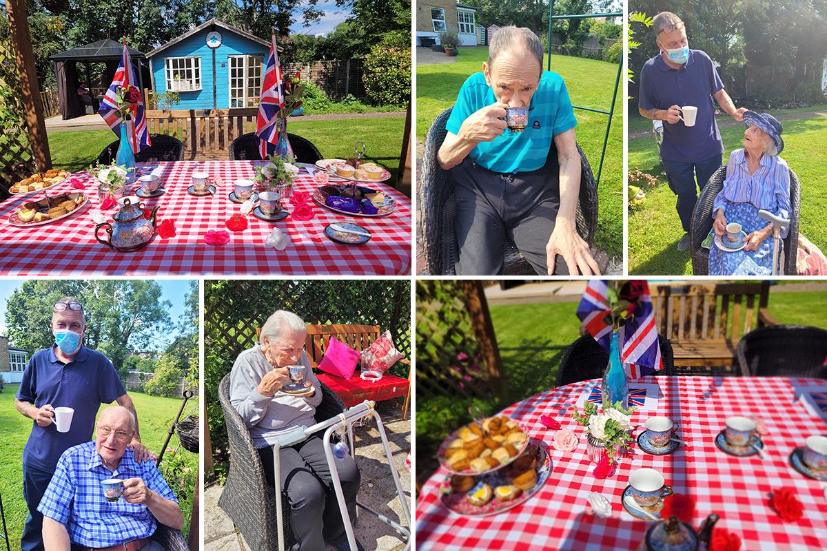 Bromley Park Care Home residents enjoy sunny garden tea party