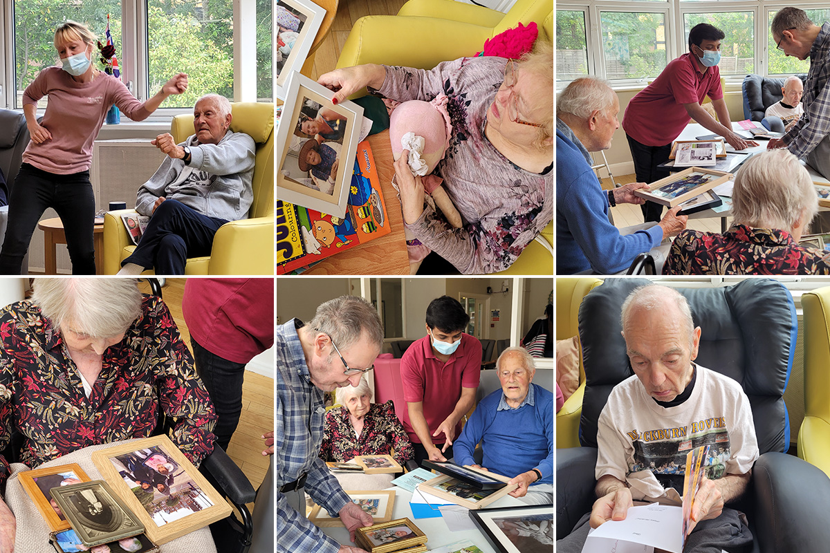 Reminiscing and games at Bromley Park Care Home